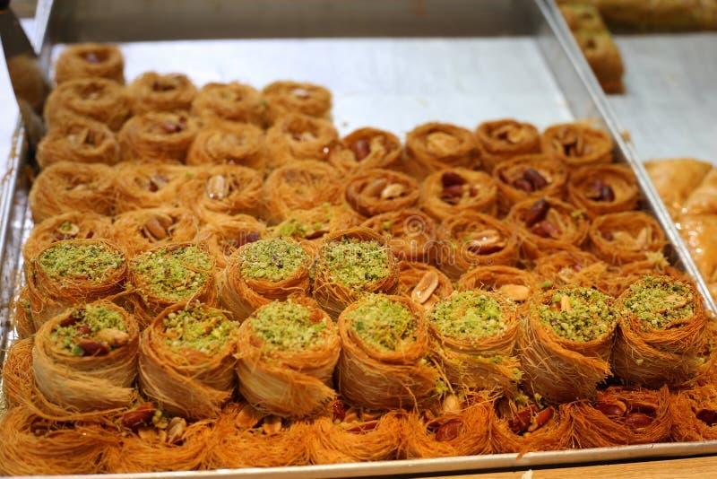 Una fine sulla foto dei dolci orientali deliziosi fotografia stock libera da diritti