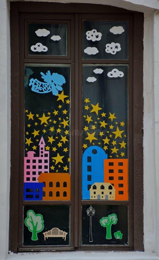 Una finestra magica a Vitebsk immagini stock