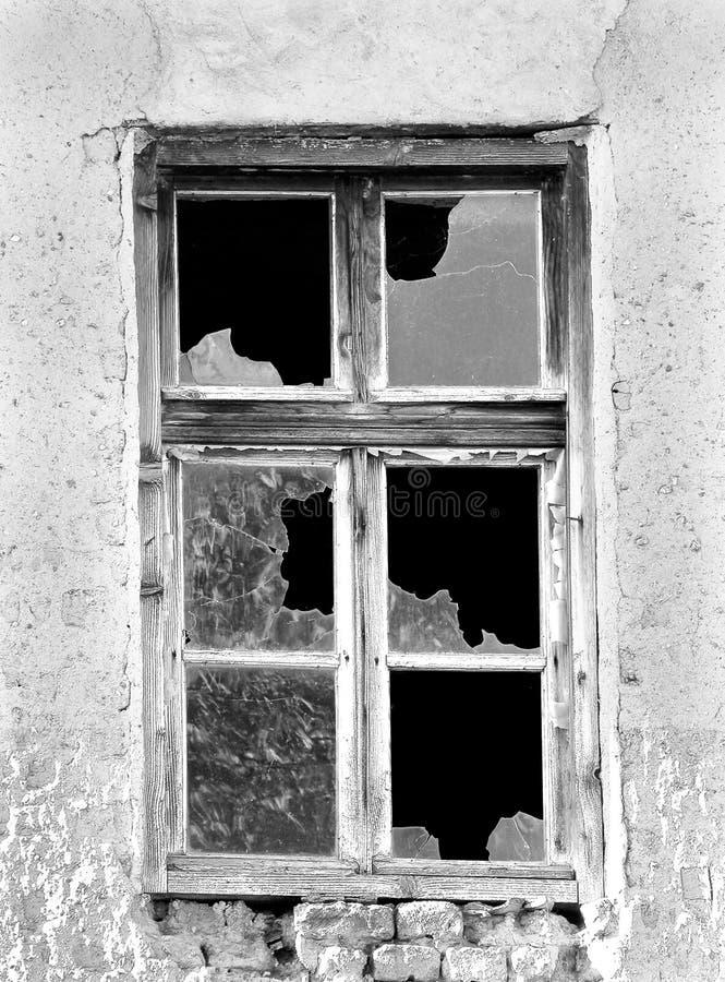 Una finestra vecchia fotografie stock