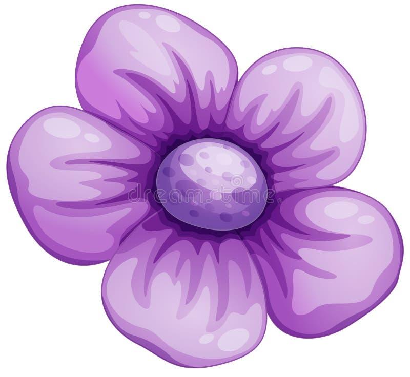 Una flor violeta stock de ilustración
