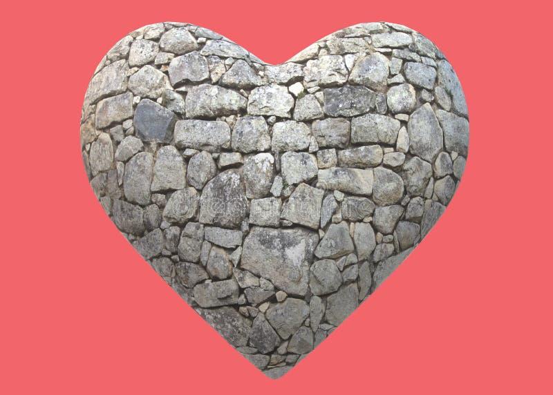Una forma del corazón de la textura de piedra de la superficie de la roca stock de ilustración
