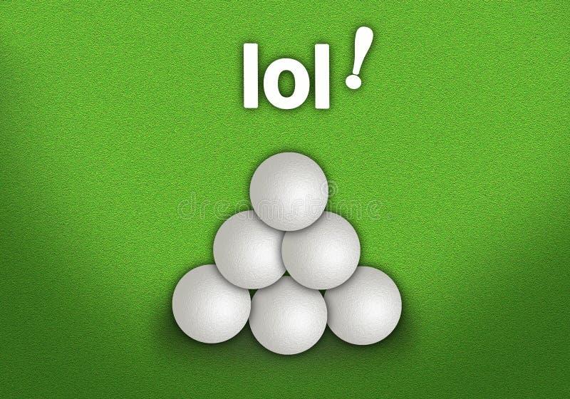 Una forma della piramide della pila delle palle da golf illustrazione di stock