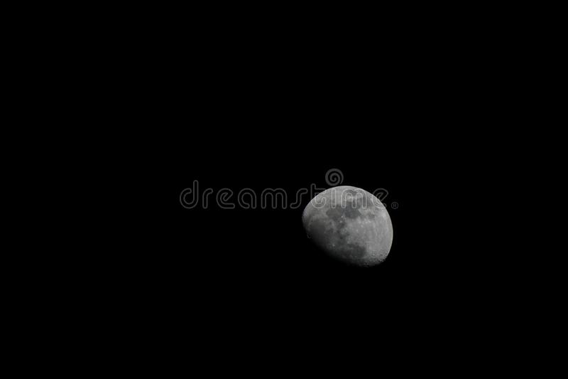 Una foto de la luna fotografía de archivo
