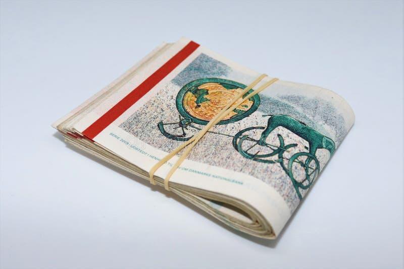 Una foto del dettaglio di 1000 corone danesi immagini stock libere da diritti