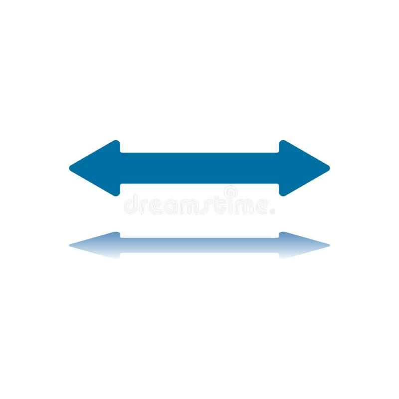 Una freccia orizzontale delle due sagittarie