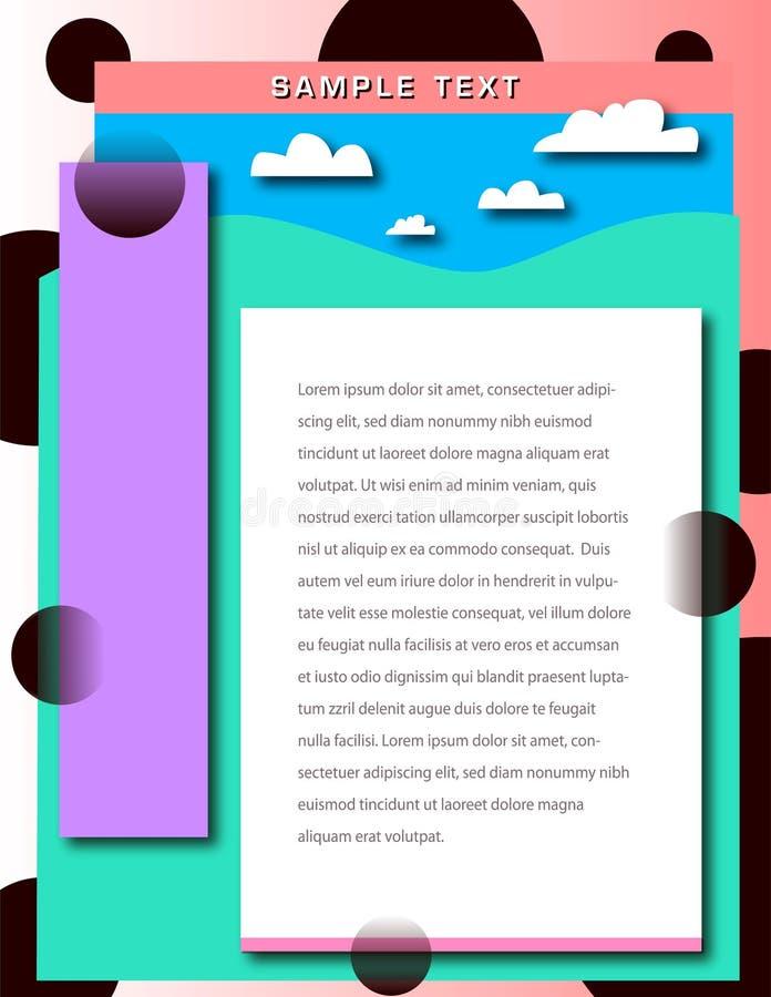 Una frontera abstracta del fondo del paisaje del pastelle libre illustration
