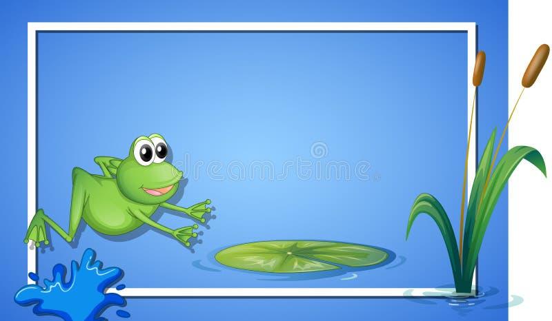 Una frontera de salto de la rana ilustración del vector