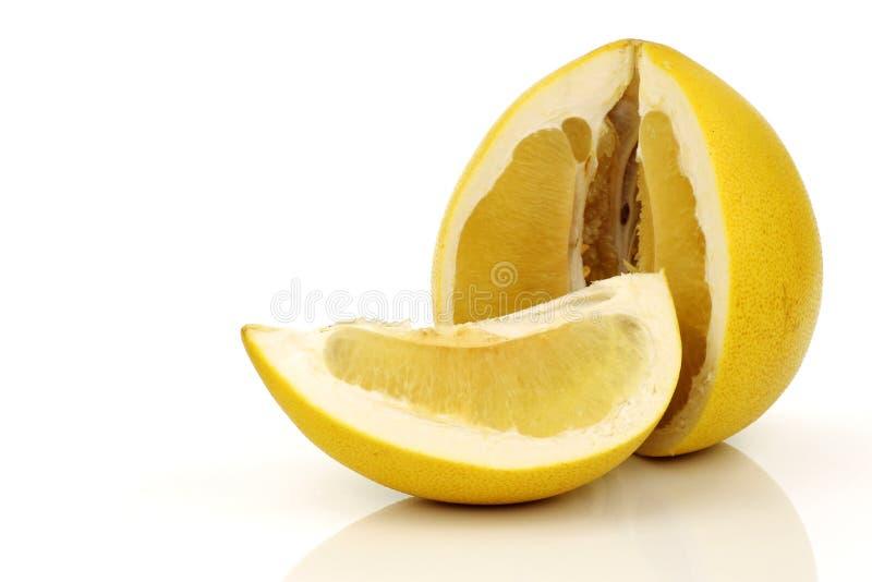 Una fruta del pomelo del corte fotografía de archivo libre de regalías