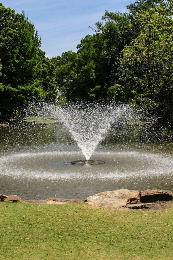Una fuente hermosa en un jardín foto de archivo libre de regalías