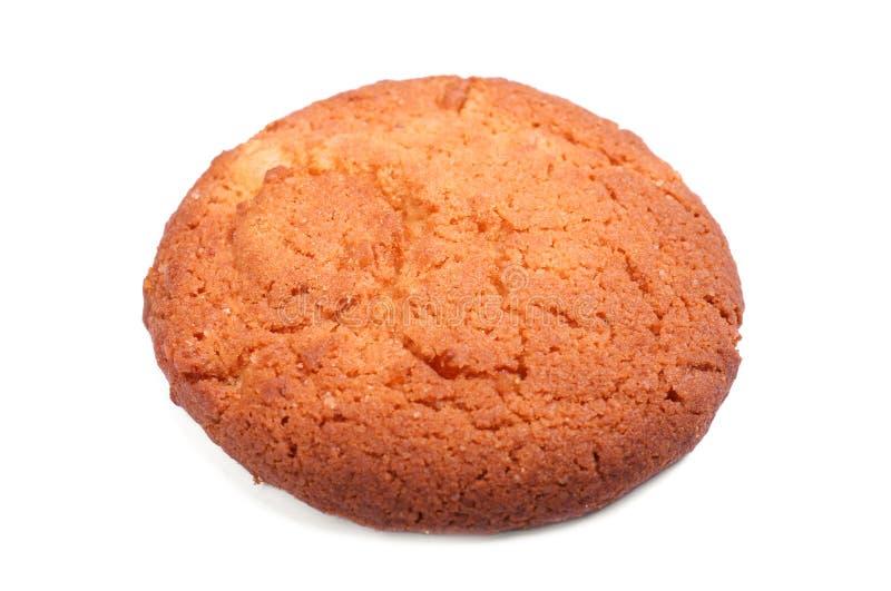 Una galleta dulce, hecha en casa, aislada en un fondo blanco Productos de la panadería Galletas del bocadillo de la nata de la va foto de archivo libre de regalías