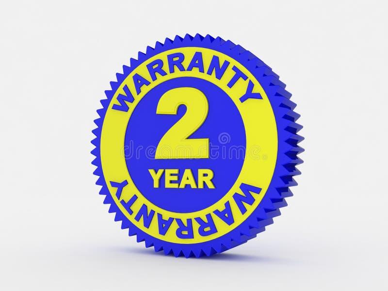 una garanzia da 2 anni immagine stock