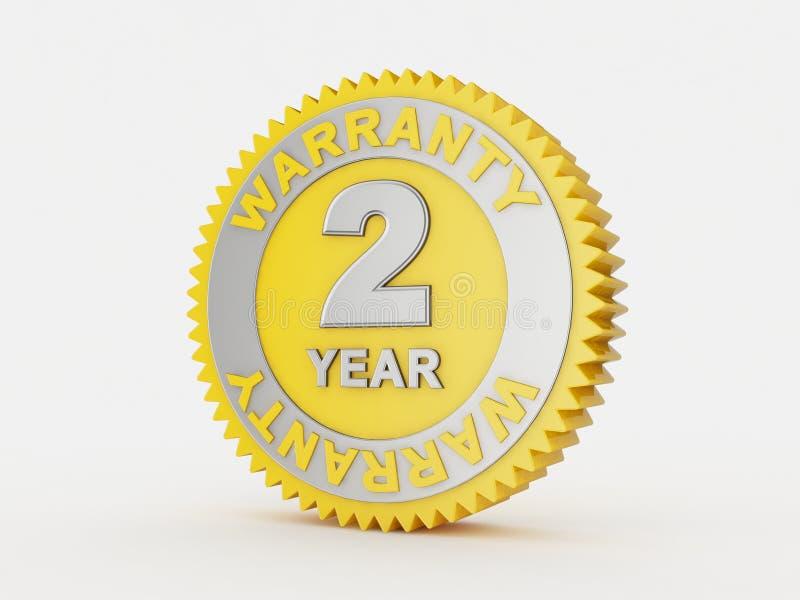 una garanzia da 2 anni immagini stock