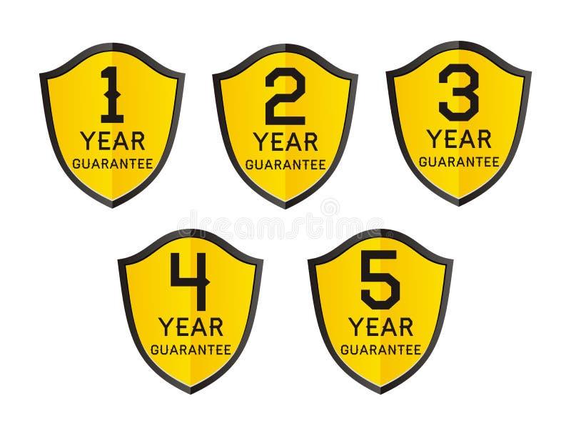 una garanzia di 1,2,3,4,5 anni illustrazione di stock