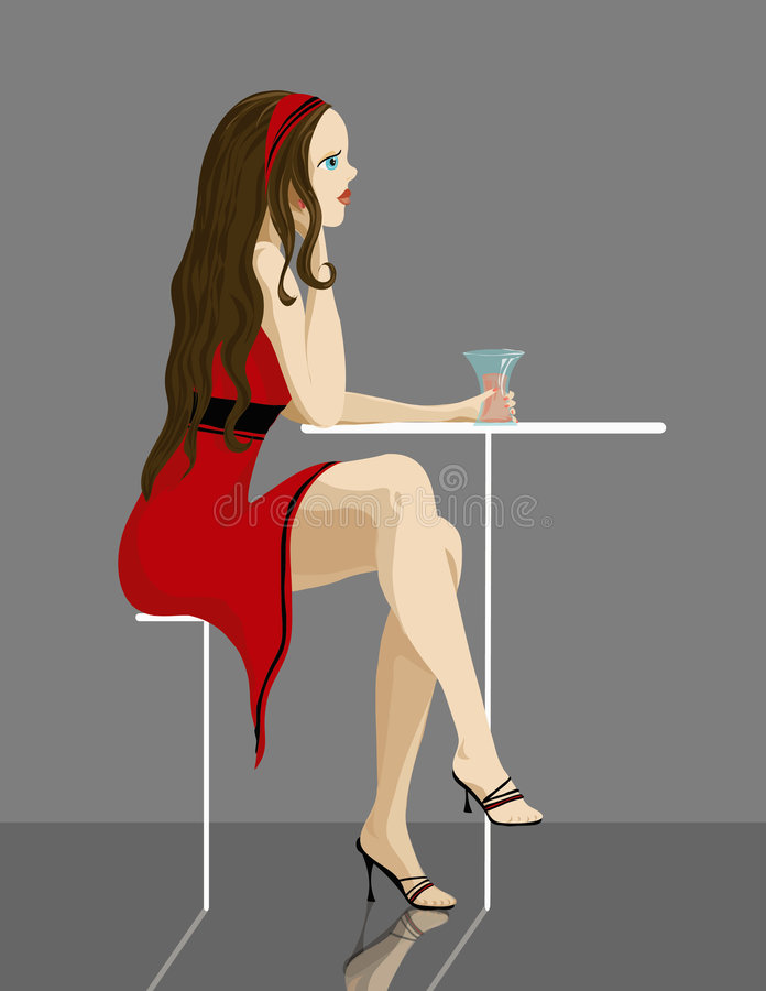 Una giovane signora royalty illustrazione gratis