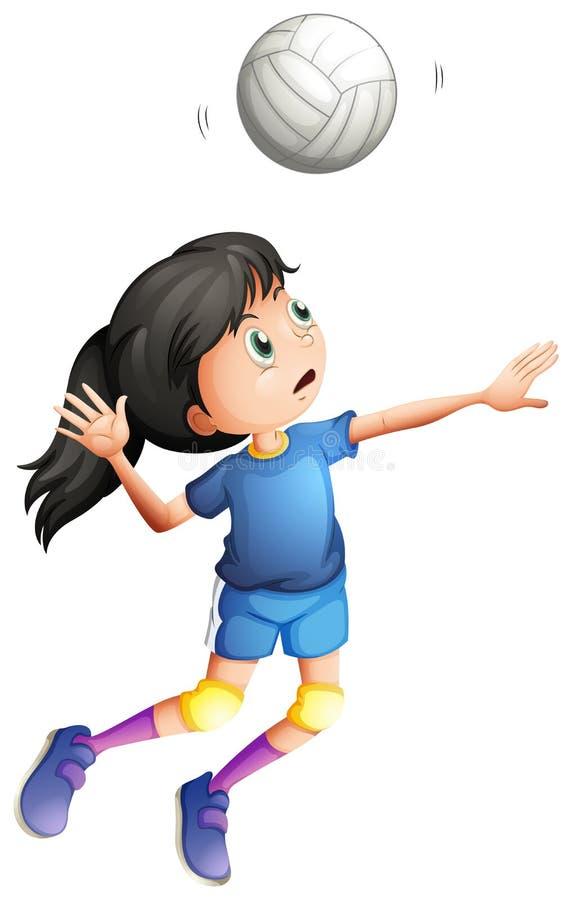 Una giovane signora che gioca pallavolo illustrazione - Campi da pallavolo gratis stampabili ...