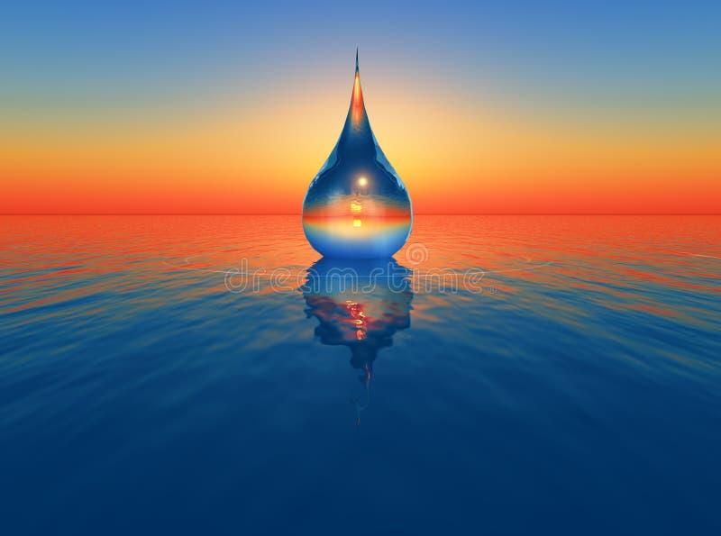 Una goccia di acqua illustrazione vettoriale