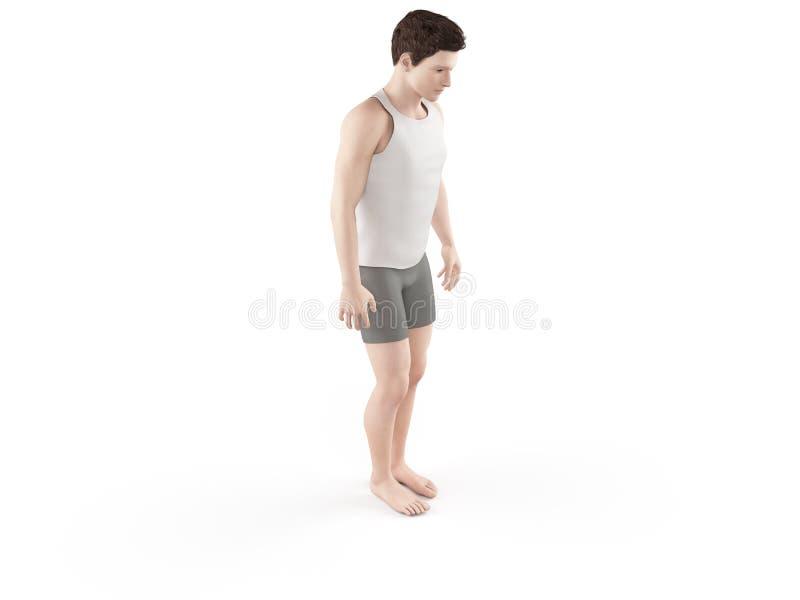 Una goccia di gamba illustrazione di stock