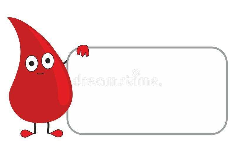 Una goccia di sangue royalty illustrazione gratis