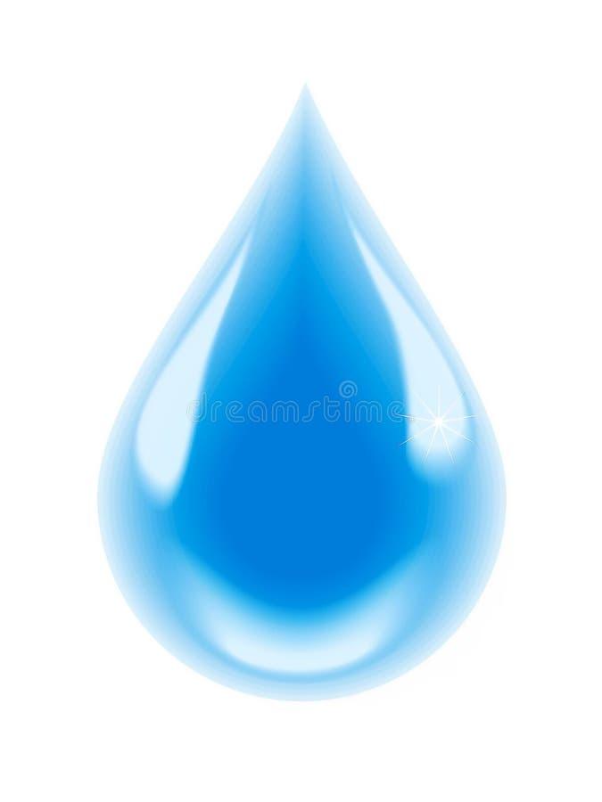Una gota del agua potable stock de ilustración