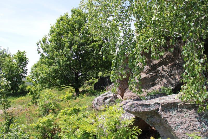 Una grande roccia per Szentbekalla fotografie stock libere da diritti