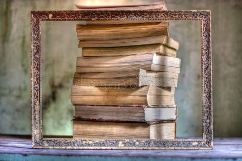 Una grande struttura, cultura e tutti i libri nel mondo fotografia stock