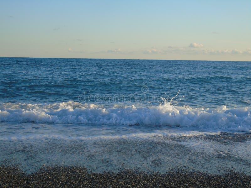 Una grande vista alla spiaggia di Genova in Bocadassw immagini stock libere da diritti