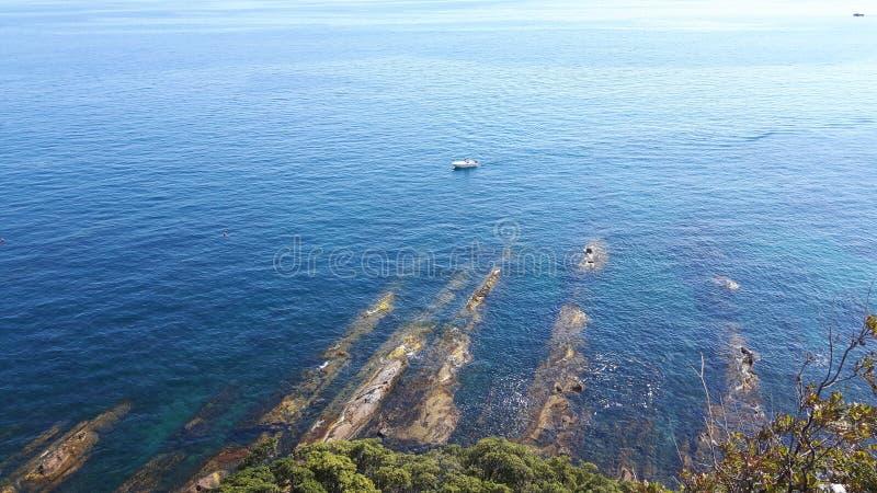 Una grande vista alla spiaggia di Genova in Bocadassw fotografia stock libera da diritti
