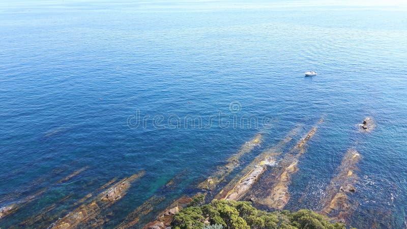 Una grande vista alla spiaggia di Genova in Bocadassw fotografia stock