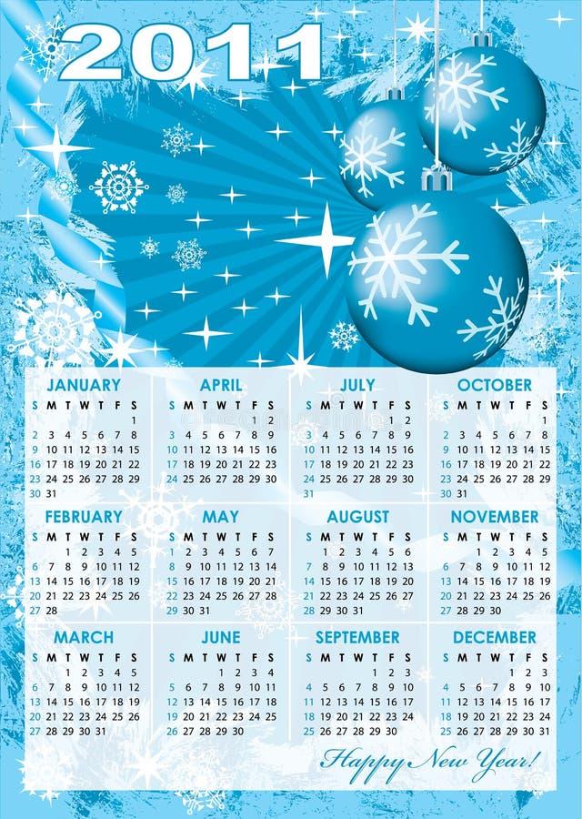 Una griglia del calendario di 2011 anno royalty illustrazione gratis