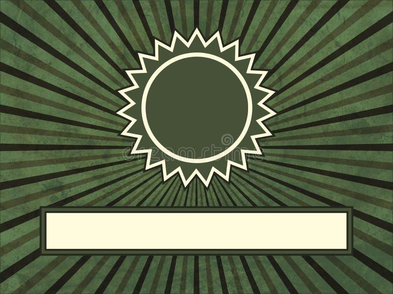 Una guarnizione con il burst della stella illustrazione vettoriale