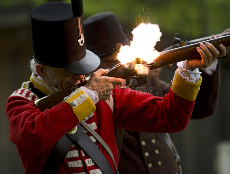 Una guerra di 1812 immagini stock