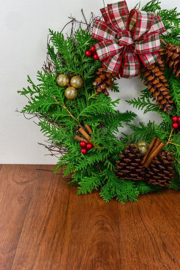 Una guirnalda adornada para la Navidad foto de archivo libre de regalías