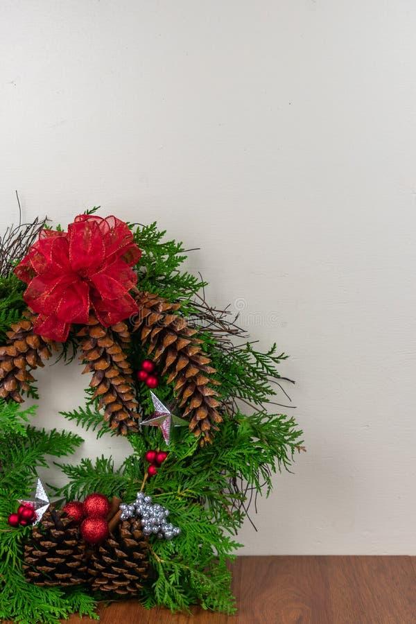 Una guirnalda adornada para la Navidad fotografía de archivo libre de regalías