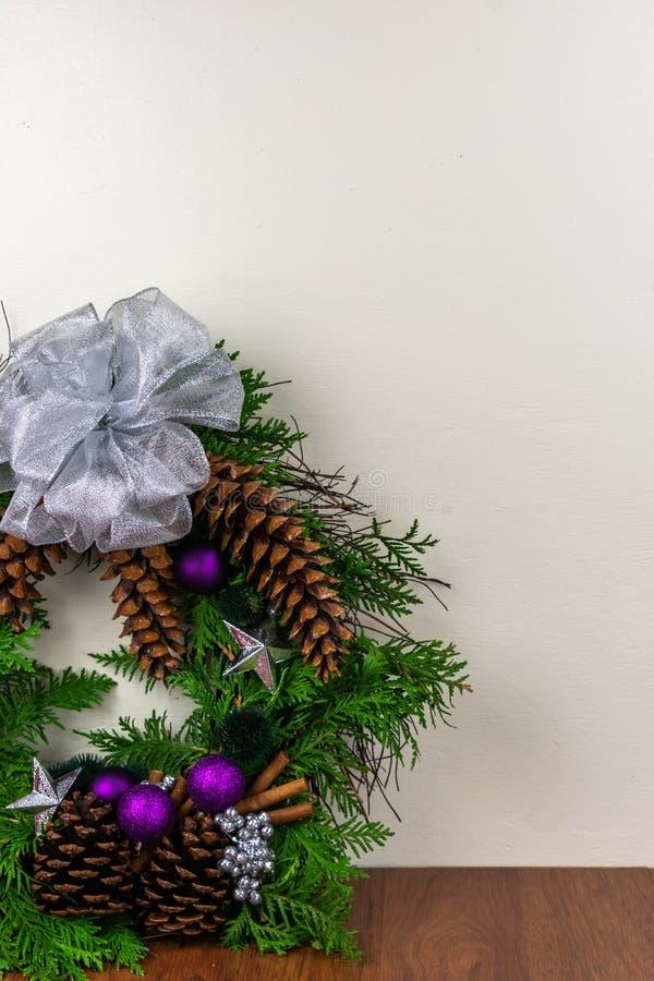 Una guirnalda adornada para la Navidad fotos de archivo libres de regalías