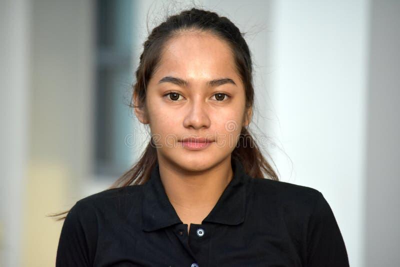 Una hembra adolescente linda fotografía de archivo libre de regalías