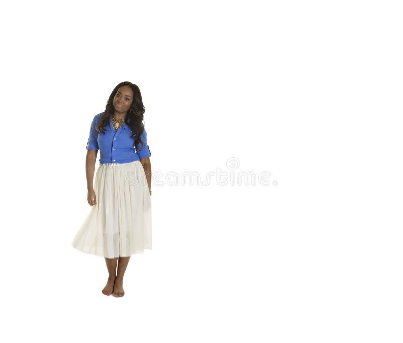 Download Una Hembra Atractiva Aislada Llevando Una Falda Imagen de archivo - Imagen de americano, diversidad: 44851531