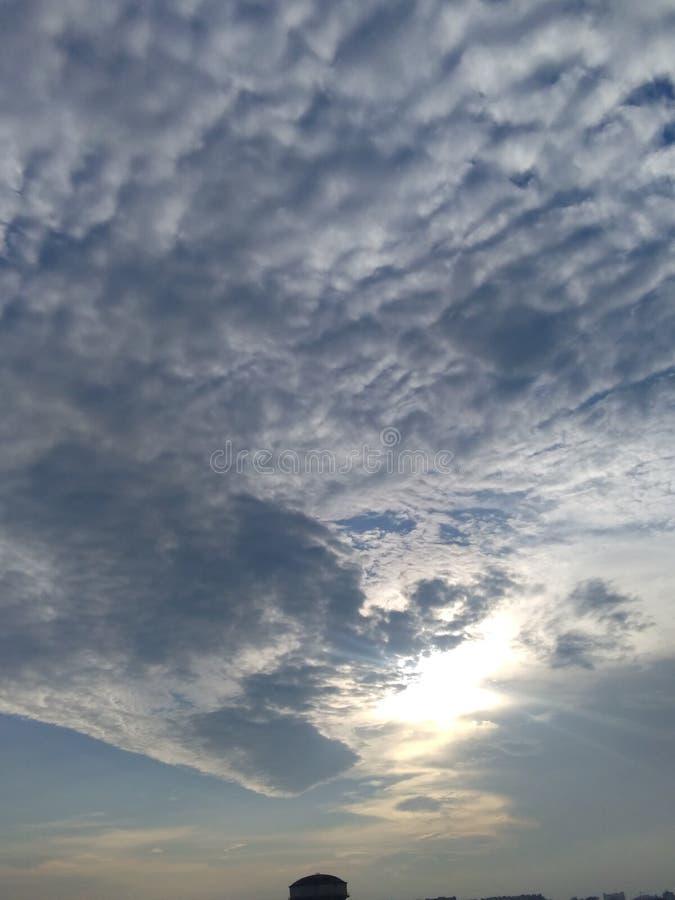 Una hermosa puesta de sol en la nube y usted disfruta de esta vista desde sus territorios sólo Loving view esto es fotos de archivo