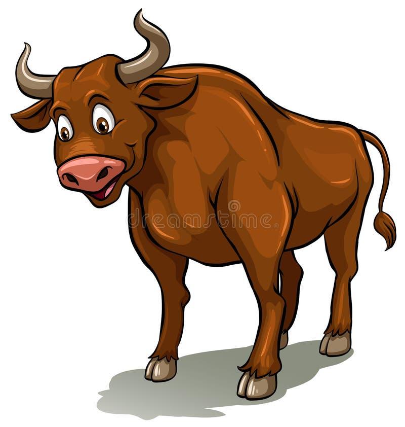 Una historia del gallo y del toro stock de ilustración