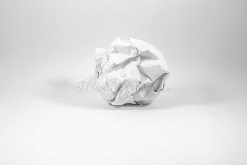 Una hoja de papel arrugada imagen de archivo libre de regalías