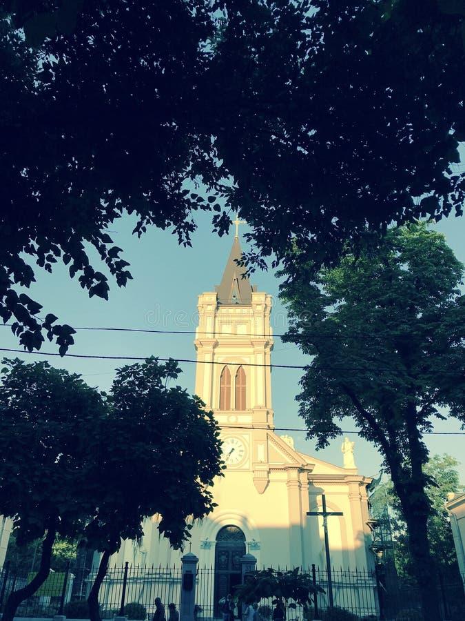 Una iglesia católica polaca en el Sun en Odessa, Ucrania - EUROPA - ARQUITECTURA fotografía de archivo