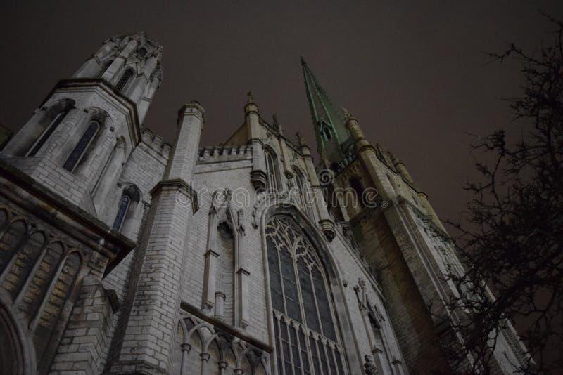 Una iglesia en Detroit fotografía de archivo