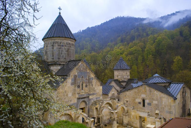 Una iglesia vieja Haghartsin en Armenia imagen de archivo