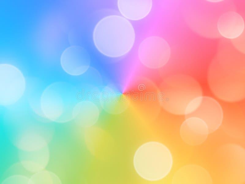 Una imagen de fondo multicolora abstracta con los efectos del bokeh que se pueden utilizar para las aplicaciones múltiples stock de ilustración