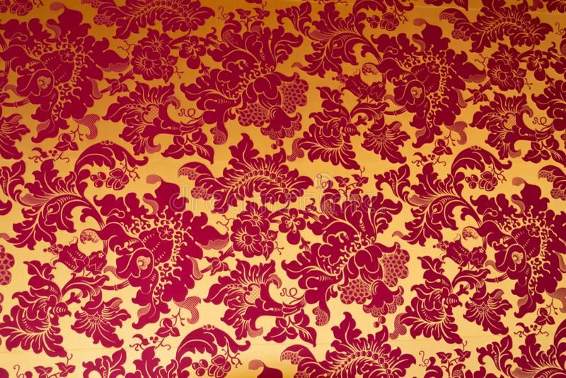 Una imagen de la textura gótica brillante inconsútil del fondo del papel pintado de Venecia fotografía de archivo libre de regalías