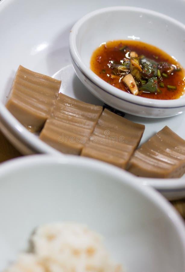 Una imagen de una torta tradicional coreana foto de archivo