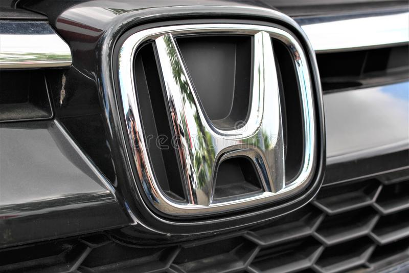 Una imagen de un logotipo de Honda - Bielefeld/Alemania - 07/23/2017 imagenes de archivo