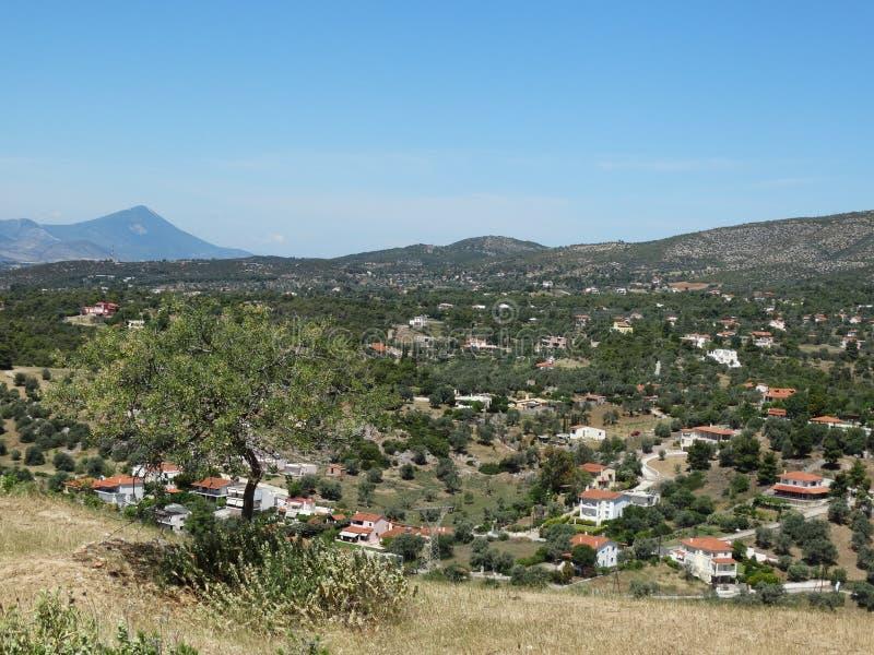 Una imagen del campo griego foto de archivo libre de regalías