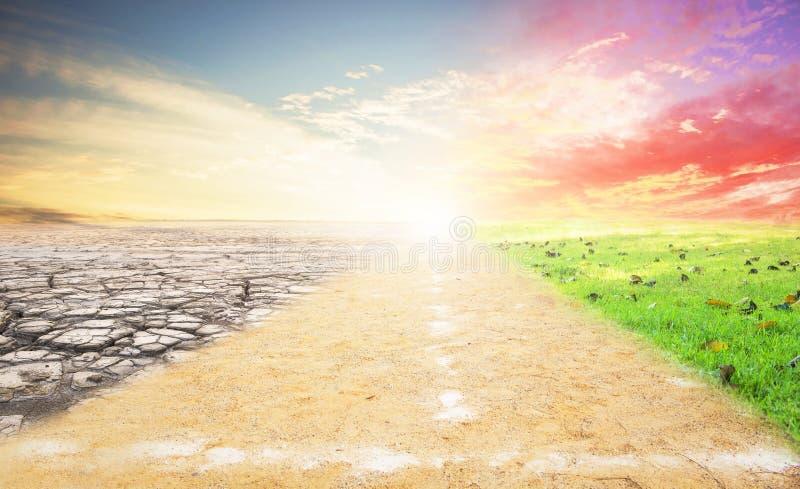 Una imagen del concepto del cambio de clima fotos de archivo libres de regalías