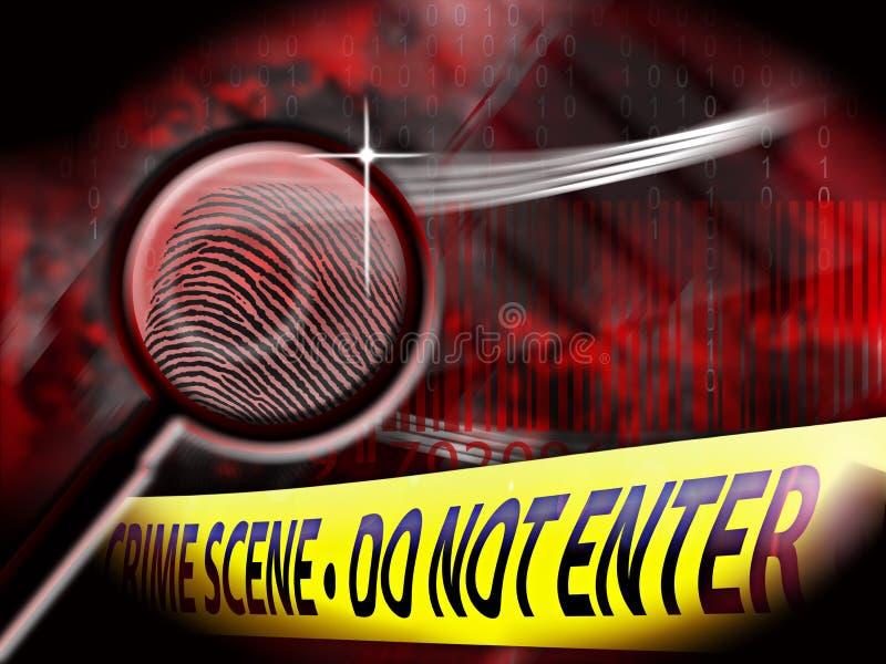 Investigación de la escena del crimen stock de ilustración