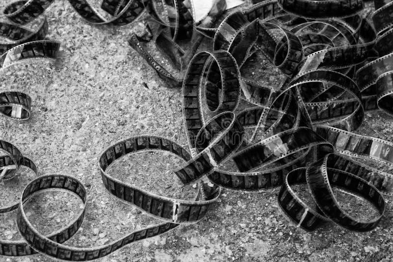 Una imagen retra de una película cinemática en colores blancos y negros foto de archivo libre de regalías